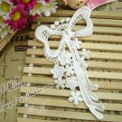 Lovely Cotton Venise Appliques Patch Retro Bow Flowers 2 pcs Fast Shipping