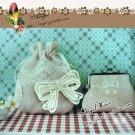 Lovely Cotton Venise Appliques Patch Retro Bow 2 pcs Fast Shipping