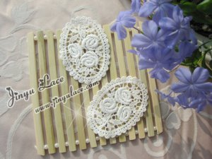 Lovely Cotton Venise Appliques Patch Flowers 2 pcs Fast Shipping