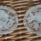 Appliques Patch Embroidered Flowers on Mesh 2 pcs - have severe color deviation