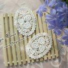 Off-white Cotton Venise Appliques Patch Flowers 2 pcs -must read details