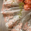 Beautiful Lace Trim Embroidered Flowers on Mesh 1.2 yds long Fast Shipping