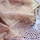 Beautiful Lace Trim Embroidered Flowers on Mesh 1 yd Fast Shipping