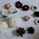 Flowers Balls Appliques Patches 13 pcs- Local Pickup Only