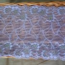 Beautiful Elastic Stretch Lace Trim Floral Violet 1 yds Fast Shipping