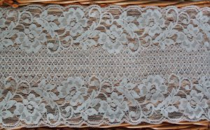 """Fabulous Stretch Elastic Lace Trim Floral 5.98"""" Wide 1.1 yds Fast Shipping"""