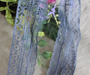 Fabulous Lace Trim Elastic Stretch Floral 4.4 yds Fast Shipping
