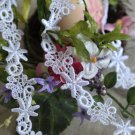 """Fabulous Venise Lace Trim Floral Appliques Patches 1.02"""" Wide 1.2 yds Fast Shipping"""