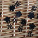 Lovely Appliques Patches Venise Black Flowers 10 pcs Fast Shipping