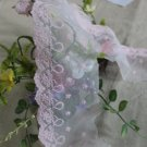 "Fabulous Lace Trim Embroidered Floral  3.35"" Wide  1.5 yds Fast Shipping"