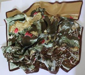 "Beautiful 33"" 100% silk Scarf Wrap Bandana Kerchief Lotus Fast Shipping"