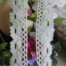 "Beautiful Crocheted cotton lace trim 0.94"" Wide 5 yds Fast Shipping !"