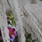 "Beautiful Crocheted cotton lace trim 0.94"" Wide 2.3 yds -must read details"