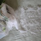 "Beautiful Eyelash lace trim 8.7"" Wide 1.6 yds Fast Shipping !"