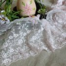 "Fabulous Lace Trim Embroidered Floral 5.6"" Wide 1 yd Fast Shipping"