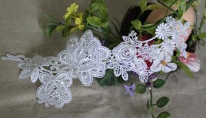 Gorgeous Embroidered Flowers with beads Appliques Patches 1 pc Fast Shipping