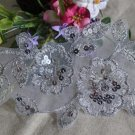 Gorgeous Embroidered Flowers with sequins Appliques Patches 1 pc Fast Shipping