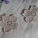 Lovely Embroidered Flower Appliques Patches 2 pcs Fast Shipping