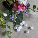 Fabulous White Flowers Buds Appliques Patches Twirls 10 pcs Fast Shipping