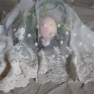 """Fabulous lace trim Embroidered Floral on Mesh Scalloped Edge 15.7"""" Wide 1 yd Fast Shipping"""