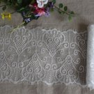 "Fabulous lace trim Floral Scalloped Edge Eyelash 6.89"" Wide 1.63 yds Fast Shipping"
