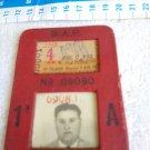 ARGENTINA BUENOS AIRES TREN TRAIN Railway Railroad  F.C.B.A.P. PASE LIBRE 1º CLASE AÑO 1963 #1