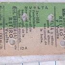 Boleto Ticket Ferrocarril Argentina Railroad Railway OLD #3