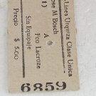 Boleto Ticket Ferrocarril Argentina Railroad Railway 4 OLD #3