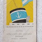 Argentina Argentine Marine Merchant Luggage Tag Flota Mercante OLD #4