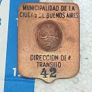 Transit Police Policia Argentina Plate Badge OLD #7