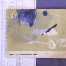 Argentina Argentine Fiat 128 Owners Manual 1975 Original #7