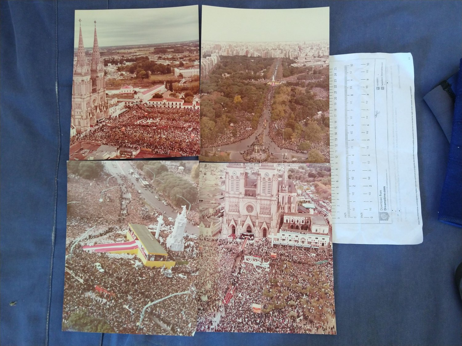 Argentina Argentine John Paul II Pope during Malvinas Falklands War ORIGINAL PRESS 4 PHOTO SET #7 (