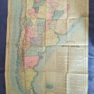 Argentine Argentina Map 1933 & Marcello Theater Rome La Prensa Newspaper Suplement #7