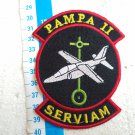 Argentina Air Force Pampa Airplane Serviam Team Badge Patch #8