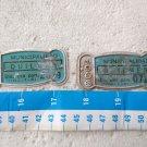 Patente de Bicicleta Bicycle License Plate Argentina 1966 Ciudad de Quilmes SET OF 2 ORIGINAL #9
