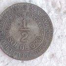 Peru 1/2 Sol de Oro 1957 Coin #10