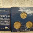 Argentina 20 50 100 pesos 1977 World Soccer Team Coins Coin SET w Case #10