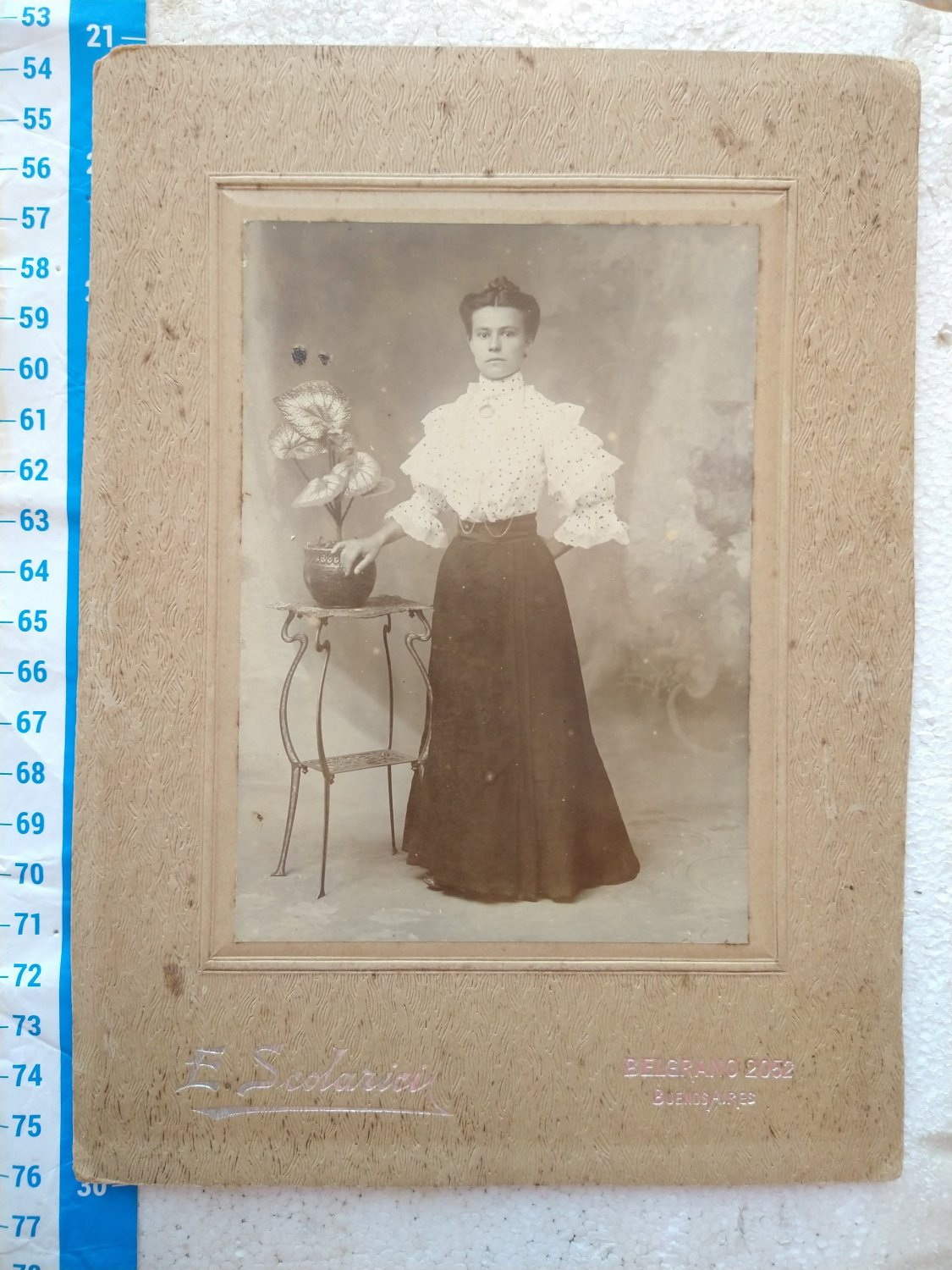 sale Antique Photo Photography Woman on Cardboard #10