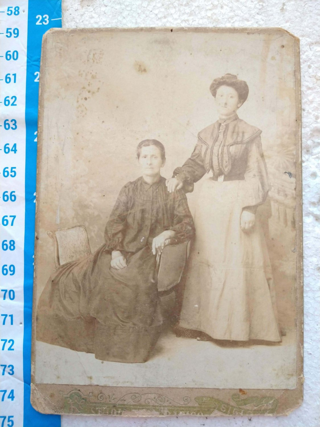 Antique Photo Photography Woman Women on Cardboard #10