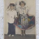 Photo Photography Romantic Children Girl Boy Disguise Postcard OLD #10