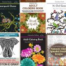 6 Adult Coloring Books Pack Print it Yourself Stress Relief FREE PDF SHIPPING