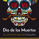 Adult Coloring Books Day of Dead Skull  Print it Yourself Stress Relief FREE PDF SHIPPING