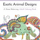 Adult Coloring Books Exotic Animals  Print it Yourself Stress Relief FREE PDF SHIPPING