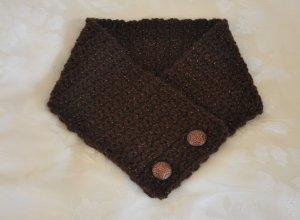 Chocolate Brown Crochet Neck Warmer