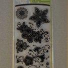 Gem Stone Flowers by Inkadinkado Clear Acrylic Stamp Set