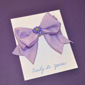 Lavender Double Bow Barrette