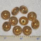 Small Gold Tone Shank Buttons - 10