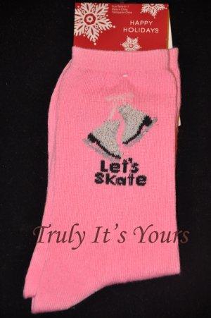 Pink Ice Skating Socks - Christmas Stockings