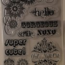 TPC Studio Girlfriends Clear Rubber Stamp Set