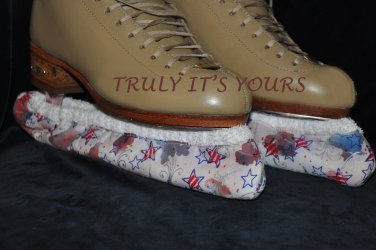Red White and Blue Ice Skating Hockey Soakers Blade Covers